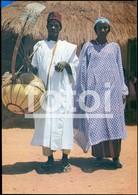 PHOTO POSTCARD CORA MUSIC NATIVE MAN AFRICAN MANDINGA COSTUME GUINE BISSAU GUINEA  AFRICA AFRIQUE CARTE POSTALE NT28 - Guinea-Bissau
