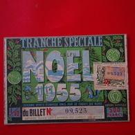 TRANCHE SPECIALE NOEL 1955 TIMBRE LOTERIE NATIONALE FAMILLE PETITJEAN TROYES - Ohne Zuordnung