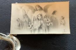 "Antico SANTINO Doppio - Holy Card "" RICORDO COMUNIONE  ""anno 1940 , Ed. CV 5 - Religion & Esotérisme"