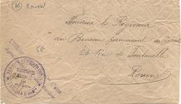 Cachet Militaire : 76 -ROUEN - Guerre De 1914-18