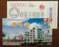 Bicycle Cycling,bike,China 2007 Xinjian County Planning And Construction Bureau Advertising PSC,specimen Overprinted - Vélo