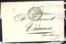 Pli Avec Correspondance En Port Du. Dateur De Chateauroux De 1831 Pour Vannes - 1801-1848: Précurseurs XIX