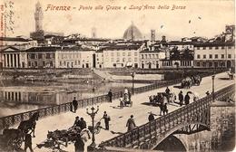 FIRENZE  - PONTE ALLE GRAZIE E LUNG'ARNO DELLA BORSA - Firenze (Florence)