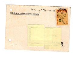 P0782 CEDOLA COMMISSIONE LIBRARIA LIBRERIA E.N.A.O.L.I. BRESCIA EUROPA L. 40 - 6. 1946-.. Repubblica