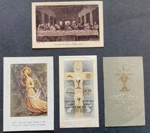 """N. 2 Antico SANTINO - Holy Card """" RICORDO COMUNIONE  """" Ed. AR 72.. - Religion & Esotérisme"""