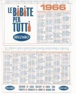 Calendarietto Recoaro 1966 - Le Bibite Per Tutti - Calendario - Calendriers