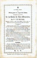 LAEKEN - Douairière De La COSTE De TER-STRAETEN - Née Vtesse VAN DER FOSSE - Décédée 1852 - Images Religieuses