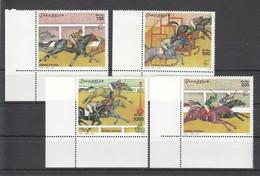 U982 2000 SOOMAALIYA SPORT ART HORSE RACING !!! MICHEL 46 EURO 1SET MNH - Chevaux