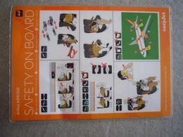 Avion / Airplane / EASY JET / Airbus A319-320 / Safety Card / Consignes De Sécurité - Scheda Di Sicurezza