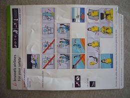 Avion / Airplane / BRUSSELS AIRLINES / Airbus A319-320 / Safety Card / Consignes De Sécurité - Consignes De Sécurité