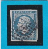 N° 14 A    PC 3266   SAINT-SAUD   ( 23 )   DORDOGNE   - REF 14112 - Ind 19 - Cote 380€ - 1853-1860 Napoleon III