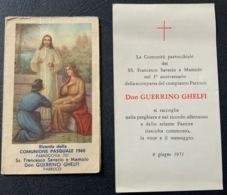 """2 SANTINO - Holy Card """" PASQUA1960 """" + Commemorazione ..SS Francesco Saverio Bologna - Religion & Esotérisme"""