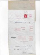 Lot De 4 EMA De PARIS Entre 1927 Et 1960 - Marcophilie (Lettres)