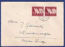 Brief Mit Mehrfachfrankatur MiNr. 215, Bogenrand (br9892) - Briefe U. Dokumente