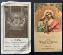 """2 SANTINO  """" RICORDO COMUNIONE PASQUALE 1931 E 1935 """" Parrocchia Misericordia - Religion & Esotérisme"""