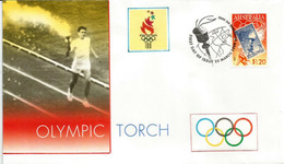 La Torche Olympique De 1956 Des J.O Melbourne.  Enveloppe FDC Melbourne - Sommer 1956: Melbourne