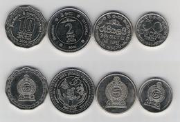 Sri Lanka  50 Ct. 96, 1 Rp. 96, 2 Rp. 2008 Gedenkmünze, 10 Rp. 2009 - Sri Lanka