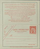 Entier Chaplain 19 F Rouge Carte Pneumatique Papier Vert Orange Storch V2 Cote 35 € - Pneumatiques