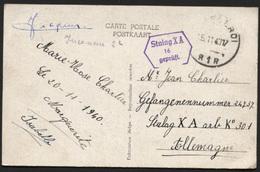 CP De CHARLEROI Pour Un Prisonnier Censure STALAG XA 1940 + Inconnu (x149) - Lettres