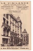 PARIS(9 Em ARRONDISSEMENT) SOCIETE D ASSURANCE LA VIGILANCE - Arrondissement: 09