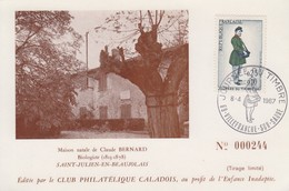 Carte  Locale  1er  Jour  FRANCE  JOURNEE  Du  TIMBRE   VILLEFRANCHE  SUR  SAONE    1967 - Stamp's Day