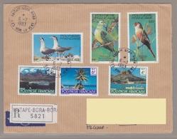Polynesie Lettre #125 - 1983 Vaitape Bora-Bora Lettre Rec. En France - Unclassified