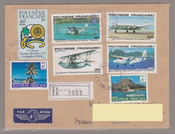 Polynesie Lettre #126 - 1983 Maupiti I.S.L.V. Lettre Rec. En France - Unclassified