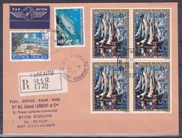 Polynesie Lettre #131 - 1982 Afareaitu Moorea Lettre Rec. En France - Unclassified