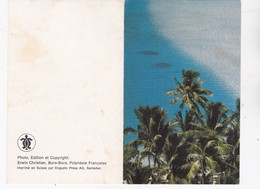 Océanie > Polynésie Française Carte De Vœux Bora Bora 1974 - Polinesia Francese