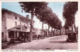 VILLIEU (Ain) - Pont De Chazey. L'Hôtel Jacquet Et L'Entrée Du Pont. Edition Combier. 1936. - Autres Communes