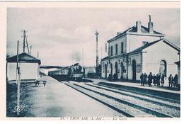 CPA THOUARE Train Vapeur Entre En Gare - Gares - Avec Trains