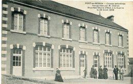 PORT En BESSIN - CLASSES ENFANTINES INAUGUREES Par M. CHERON - Le 10 AOÛT 1908 - - Port-en-Bessin-Huppain
