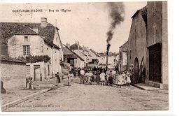 Haute Saône :Scey Sur Saône : Rue De L'eglise - France