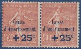 N°__250 PAIRE CAISSE D'AMORTISSEMENT TIMBRES NEUFS ** - Nuovi