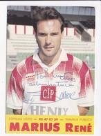 CP FOOTBALL Bruno Bellone A.S. CANNES Avec Autographe - Soccer