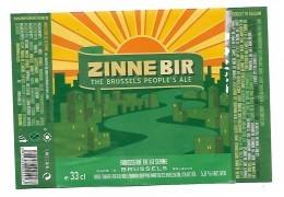 ETIQUETTE BIERE ZINNE BIR / BR. DE LA SENNE / 1080 BRUXELLES - Beer