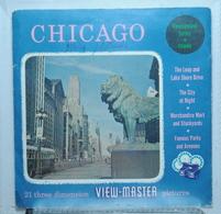 VIEW MASTER  :  CHICAGO :  POCHETTE DE 3 DISQUES - Visionneuses Stéréoscopiques