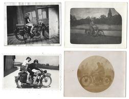 MOTO - Lot De 4 Photos Originales - 3 De 1926, 1 De 1951 - Albums & Collections