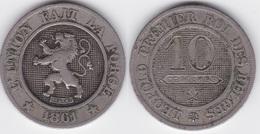 LOT 33    BELGIQUE LEOPOLD Ier   10 CENTIMES  ANNEE 1861 TYPE CUPRO-NICKEL - 1831-1865: Leopold I