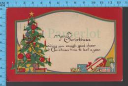 CPA Christmas - Christmas Tree And Presents - Pub.  Christmas 6 - Postcard, Carte Postale - Autres