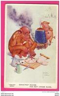 """CPA (Réf : Z403 ILLUSTRATEUR LAWSON - WOOD """"GRAND POP"""" SERIES - LE SINGE ET LE COCHON LA BOULANGERIE - Other Illustrators"""