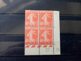 FRANCE.1926.N° 194cd26. SEMEUSE . NEUFS++ Coin Daté 27.7.26 - ....-1929