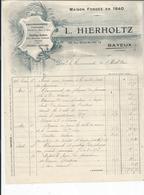 BAYEUX  Chaudronnerie  L. HIERHOLTZ  Rue Saint Martin  Pour L'HOTEL DIEU DE BAYEUX 1919 - France