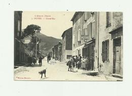 12 - OUYRE - Grand Rue Animé Devanture Hotel Café Tabac Bon état - Altri Comuni