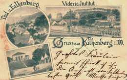 Gruß Aus Falkenberg/Mark. Victoria Institut. Carlsburg. 1898 - Falkenberg (Mark)
