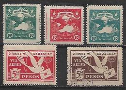 1933 Paraguay 5v. Mint Fauna Pajaros Correo Aereo - Paraguay