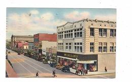 ALBUQUERQUE, New Mexico, USA, Central Avenue & Stores From Fourth Street, 1945 Linen Postcard - Albuquerque