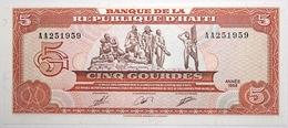 Haïti - 5 Gourdes - 1989 - PICK 255a - NEUF - Haïti