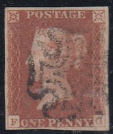 GRAN BRETAGNA 1841 1d RED  LETT. FG  PLATE 21  SUPERB USED STAMP - Usati