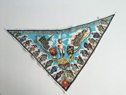 1958 Rare Foulard Bleu Expo 58 Exposition Universelle 1958 étoile Souvenir De Bruxelles Manneken Pis - Expositions